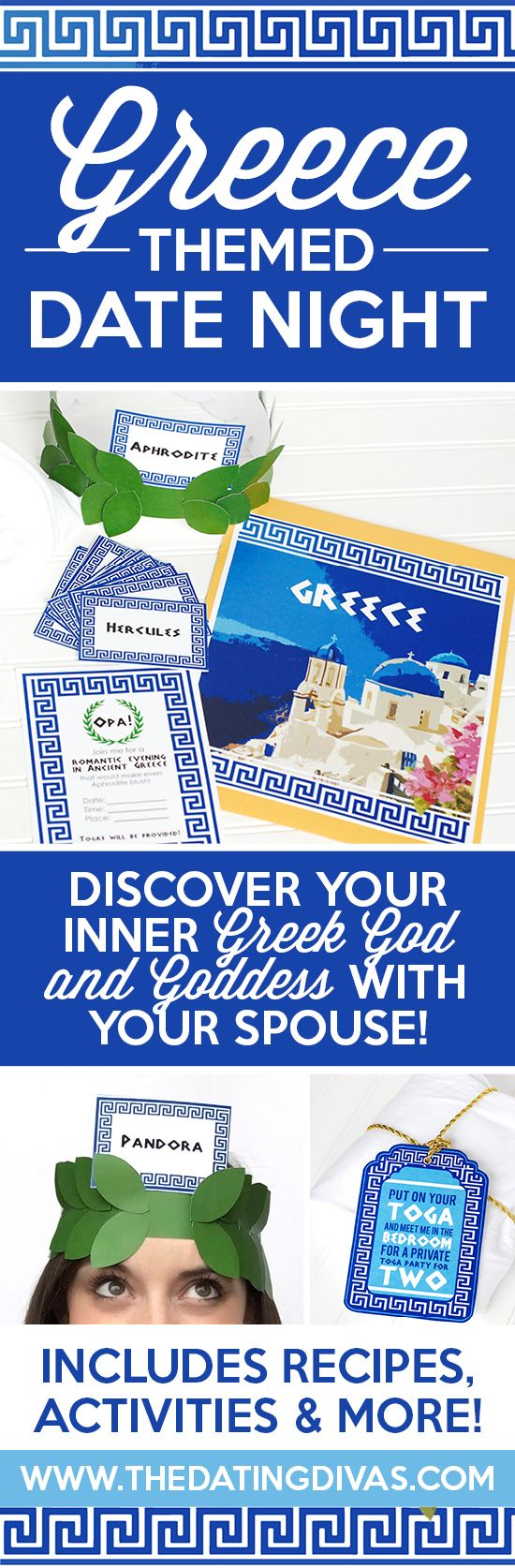 Fun printables for a Greek themed date night including invitation  recipe  cards  activities 365 best Dating Divas Romance Tips images on Pinterest. Romantic Bedroom Games Free Online. Home Design Ideas
