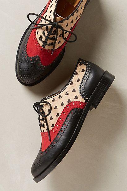 zapatos mujer tipo Oxford estampados y tricolor