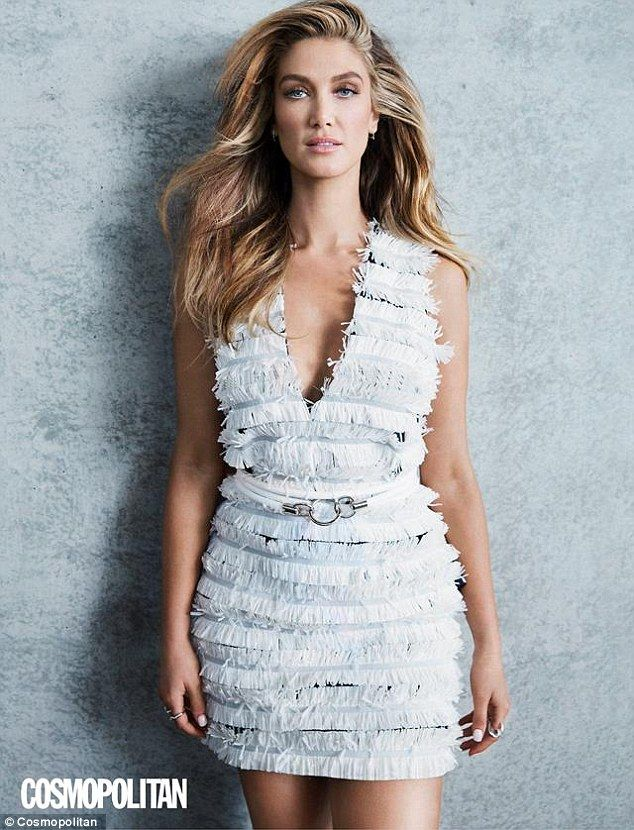 What a goddess! Delta Goodrem, 31, stunned in a soft blue mini dress with fringed detailing as she posed for a fashion editionrial in this months's edition of Cosmopolitan Australia