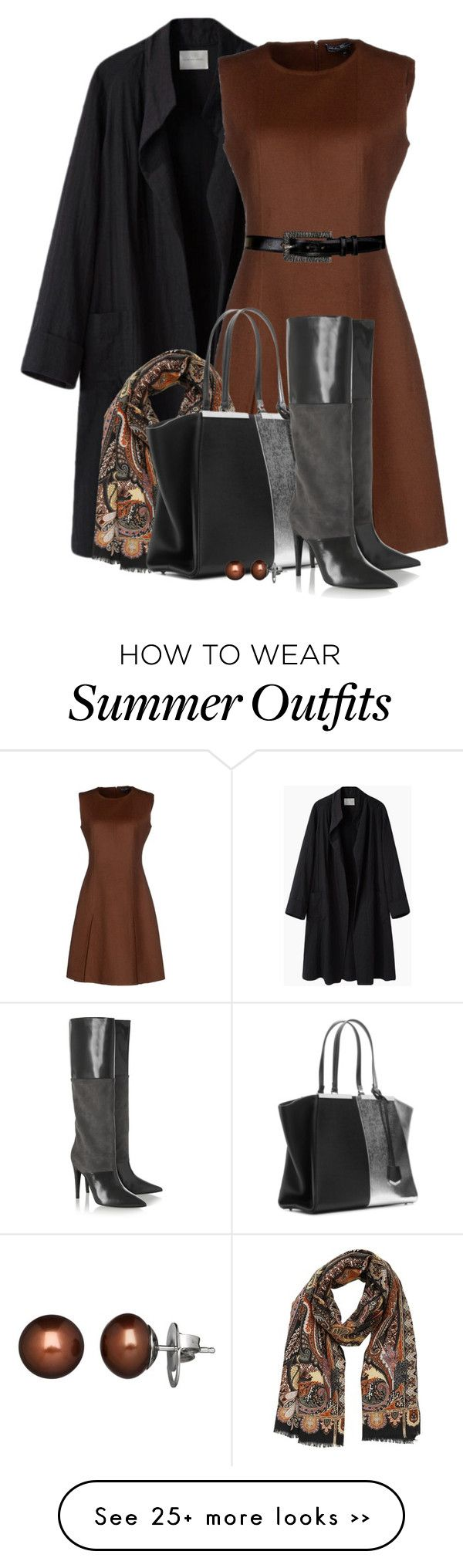 """""""Short Dress & Tall Boots for Fall"""" by brendariley-1 on Polyvore featuring…"""