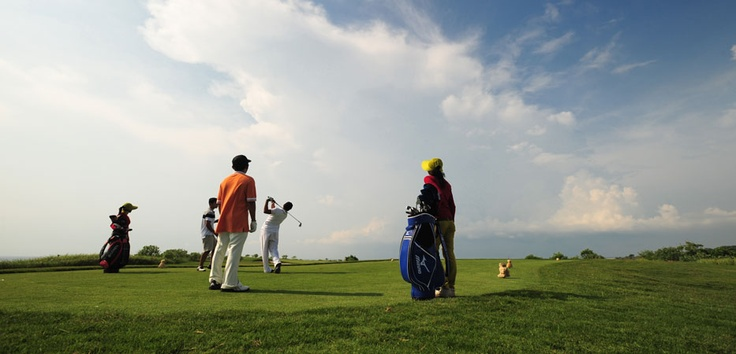 Under a clear blue sky, on soft green grass and accompanied by the caressing breeze is the picture-perfect setting for a golfing session in the tranquil resort of enchanted Bali