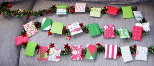 Gina, this makes me think of you! It is a Tea Advent. You wrap up tea bags and open one a day to count down to Christmas