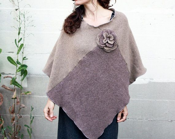 Eco Wool Poncho   Sweater Poncho  WOMENS by BlumenKinderSeattle, $79.00