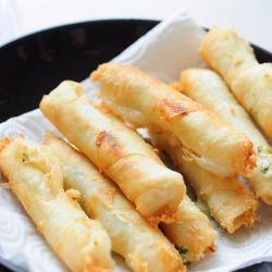 Some cheese, some filo pastry and wonderful recipe. (in Turkish)