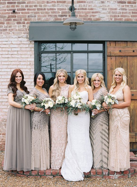 Metallic bridesmaids dresses                                                                                                                                                                                 More