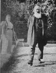 Johannes Brahms doing what he liked best, walking.