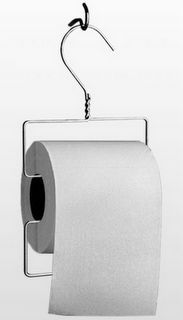 Clothes Hanger TP Dispenser: could be a great camping companion, hang on a nearby branch.