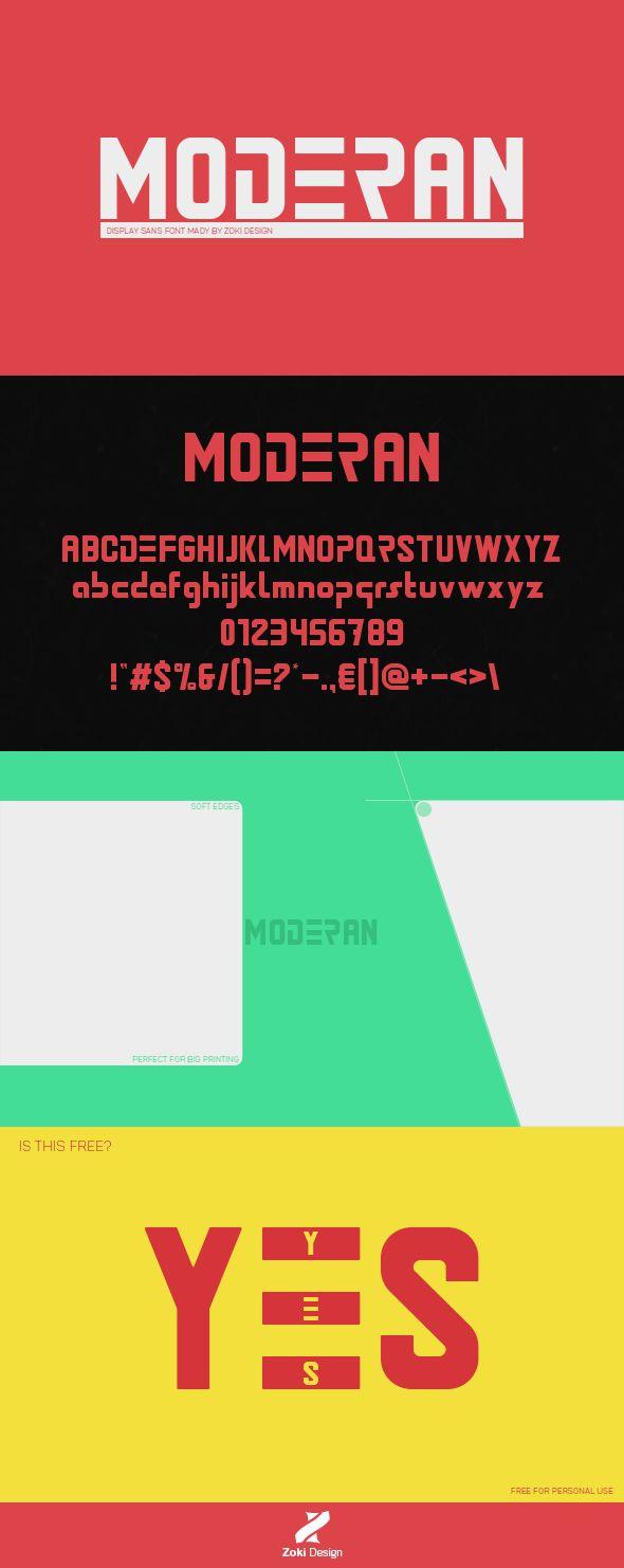 Moderan Font | Zokidesign