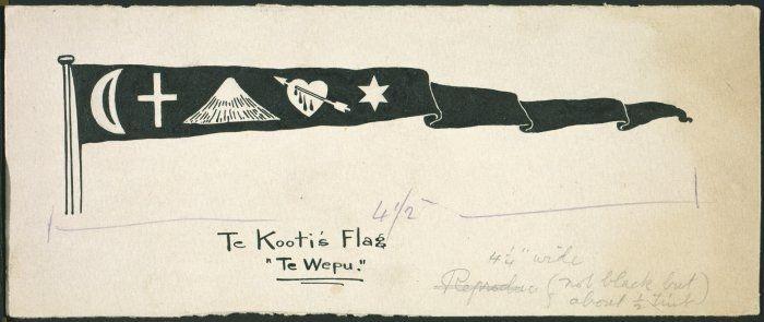 1843-1923 :Te Kooti's flag, Te Wepu