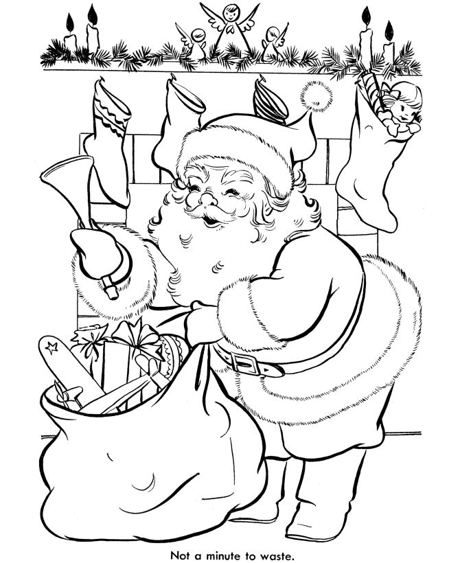 Santa Sleigh Coloring Pages Printable Go Back Print This Page