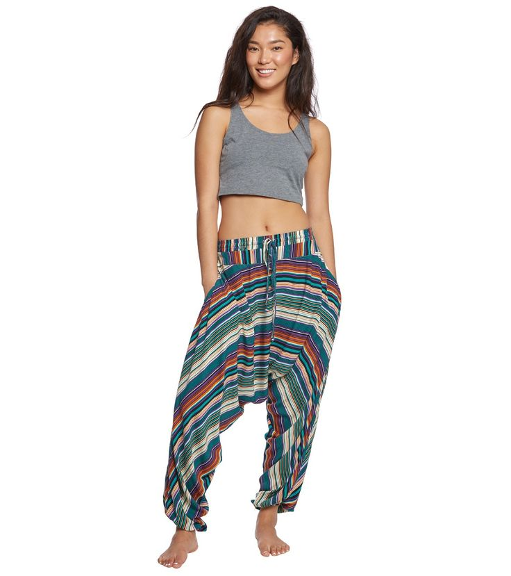 The BuddhaPants Striped Harem Pants are the definition of comfort. Whether you're lounging around the house or heading to the beach, these 100% cotton parachute pants will keep you looking chill and stylish no matter where you are.