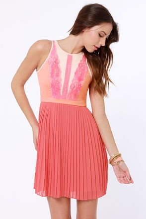1000  ideas about Coral Lace Dresses on Pinterest  Cute summer ...