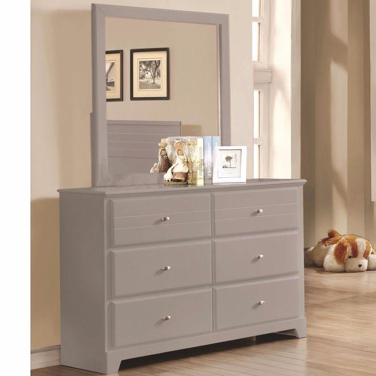 Ashton Grey   Youth Dresser U0026 Mirror