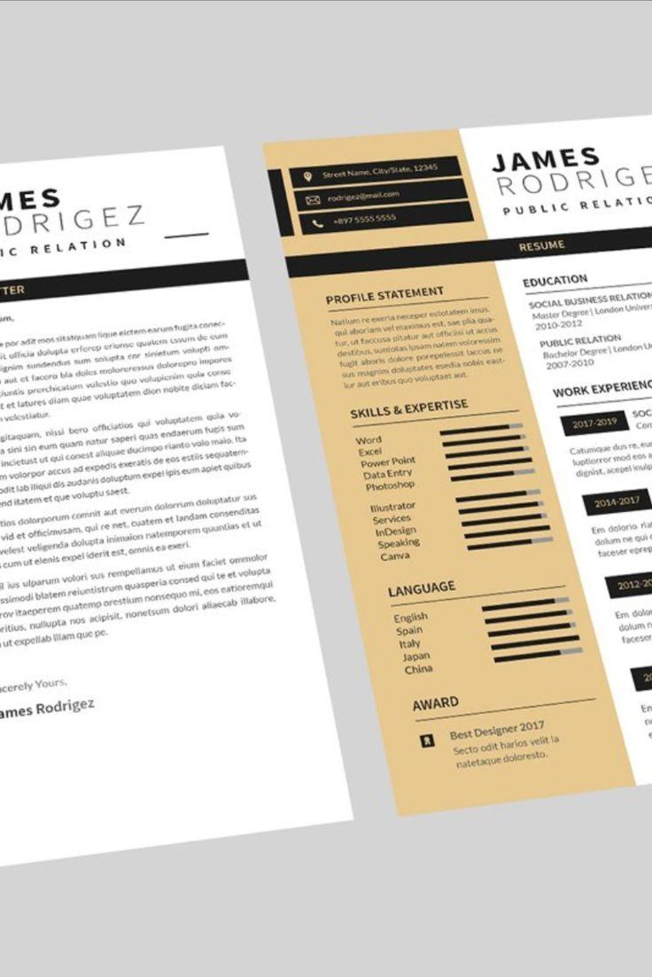 Public Relation Resume Designer in 2020 Best resume
