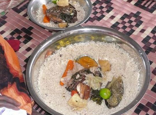 • 1. Thieboudiene - (Cheb-u-jin) The national dish of Mauritania, many people eat it every single day. It's a fish-and-rice lunch dish.