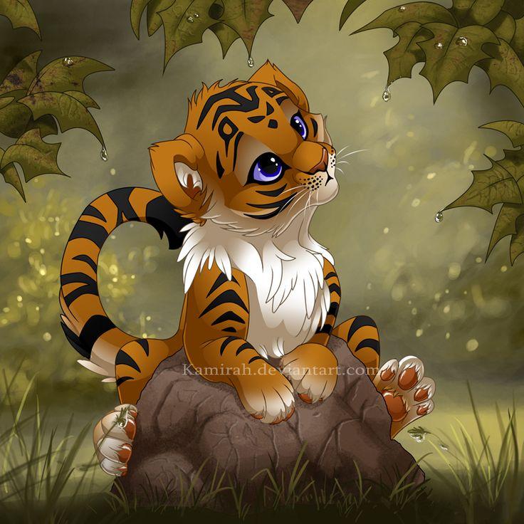 It's so cute! 'Tiger cub by Kamirah.deviantart.com on @deviantART'