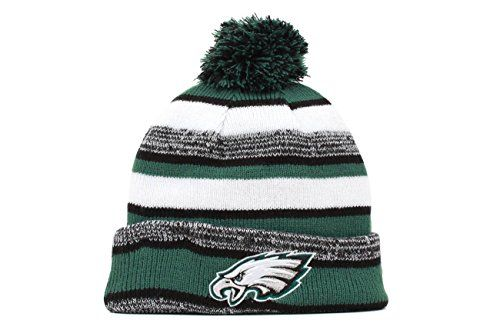 awesome New Era On field Sport Knit Philadelphia Eagles Game Hat Green/Black/White Size One Size