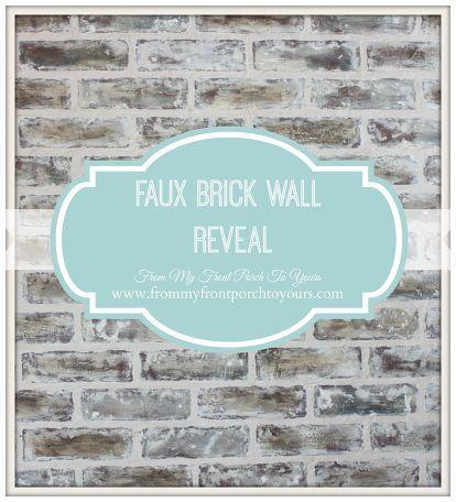 diy faux brick wall reveal, concrete masonry, foyer