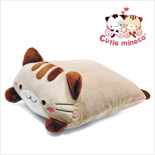 """new Mineco Square Cushion pillow Doll gift ~brown 12"""""""