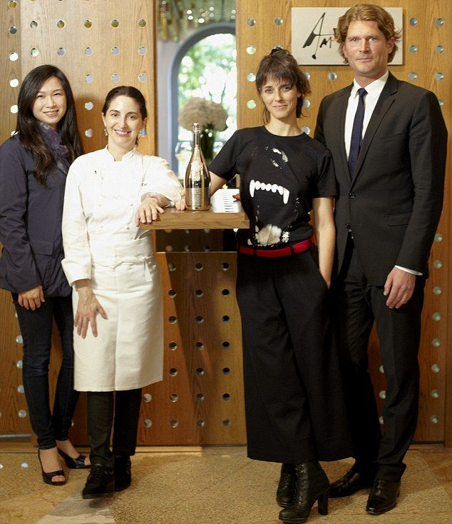 From left: Lanshu Chen, who won Asia's Best Femal Chef, Elena Arzak, Helena Rizzo, who won...