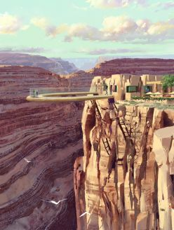 Glass bottom skywalk Grand Canyon Arizona. I have actually walked on the
