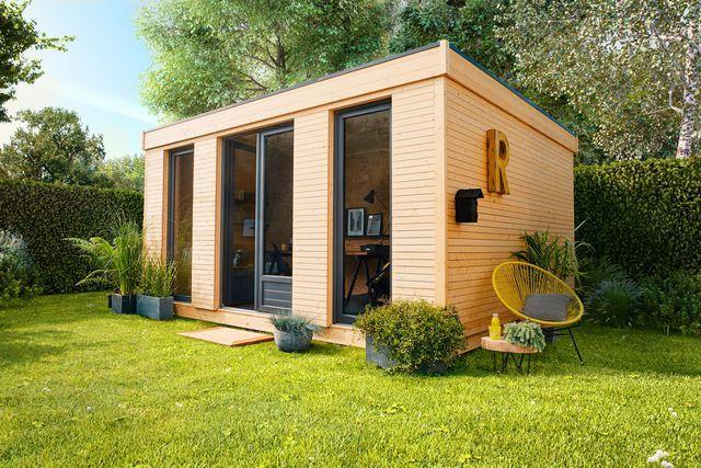 Un abri de jardin comme un bureau d'été, Leroy Merlin