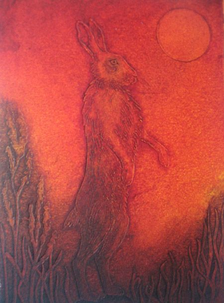 """""""The Sudden Start"""" by Hester Cox (collagraph)"""