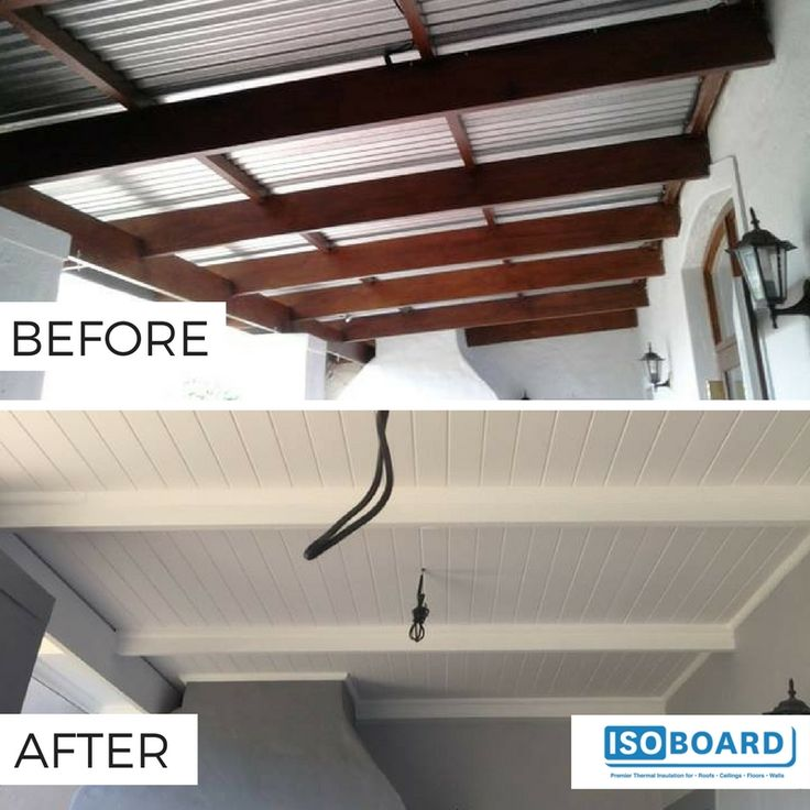 Boland Isoboard Ceilings and Cornicing Installers did an absolutely stellar job transforming this porch by retrofitting this cold-looking canopy with IsoBoard - creating an inviting, thermally comfortable entertainment area.