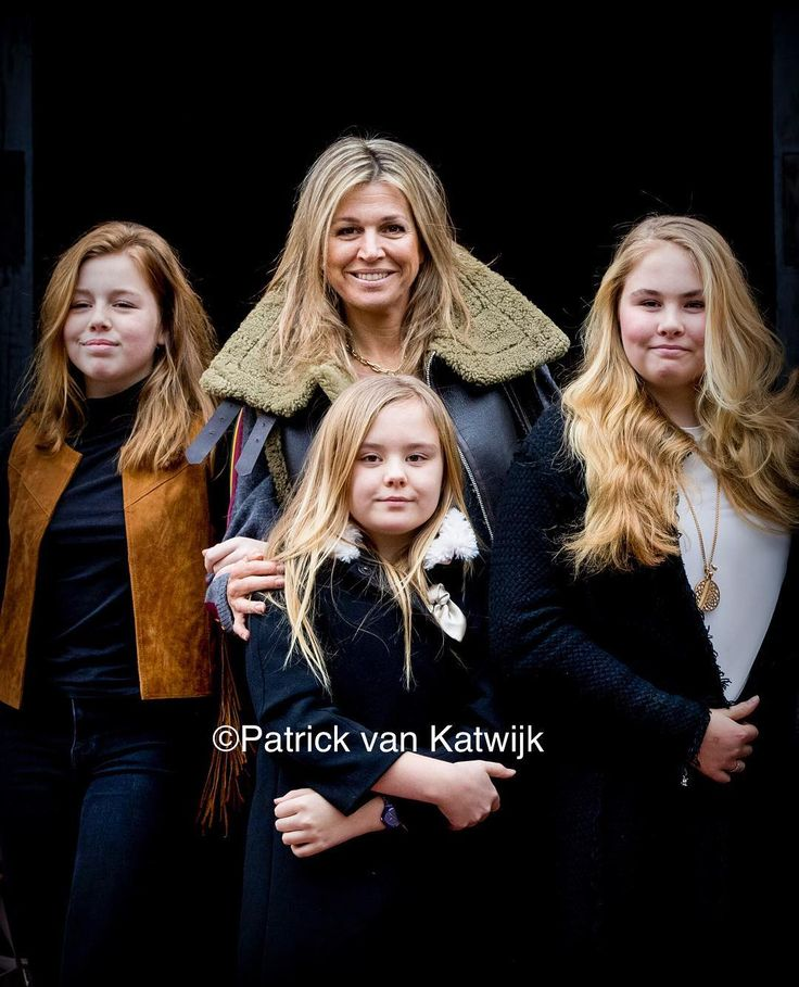 Queen Máxima with her daughters Amalia, Alexia and Ariane at the 80th birthday of Princess Beatrix…'