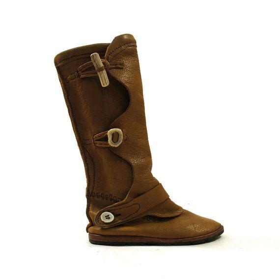 Moccasin Boots / Handmade / Women's sz 11.5 / by SpunkVintage, $94.00