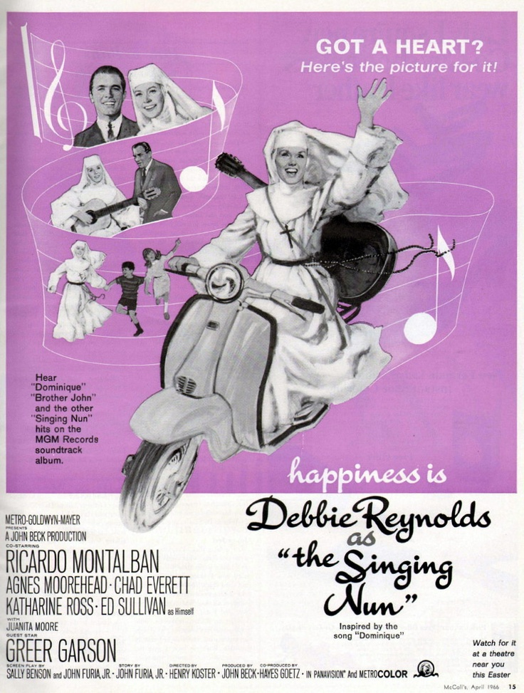 The Singing Nun - 1966. Starring Debbie Reynolds