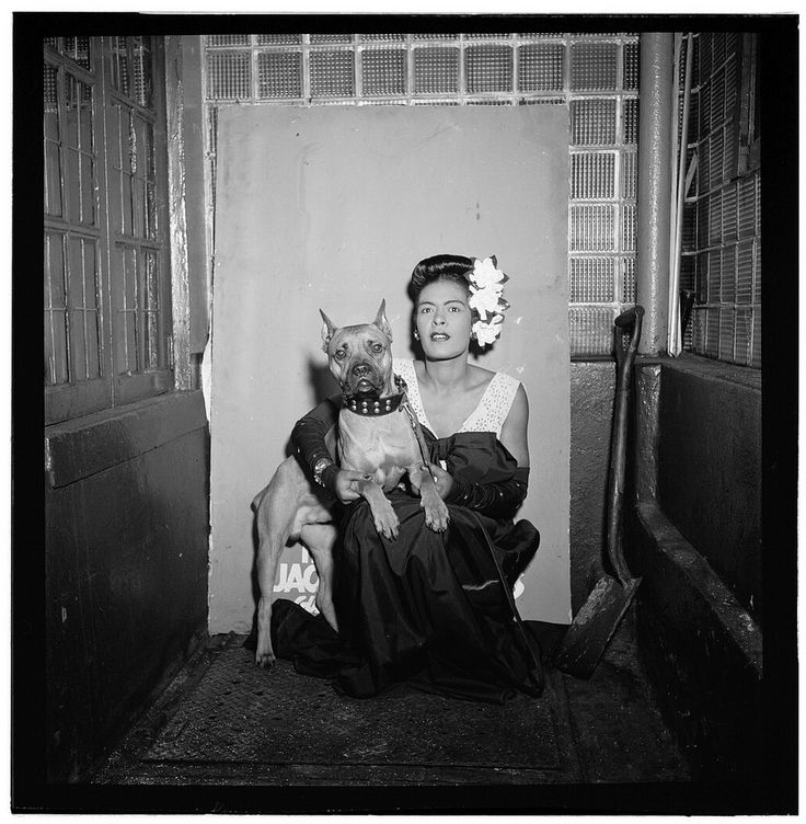 [Portrait of Billie Holiday and Mister, Downbeat, New York, N.Y., ca. Feb. 1947] (LOC) | Flickr - Photo Sharing!