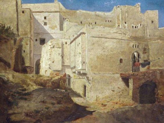 Joseph Sintes (Alaior 1829 - Alger 1913) Titre « Maisons de la Casbah d'Alger »
