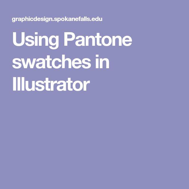 Using Pantone swatches in Illustrator
