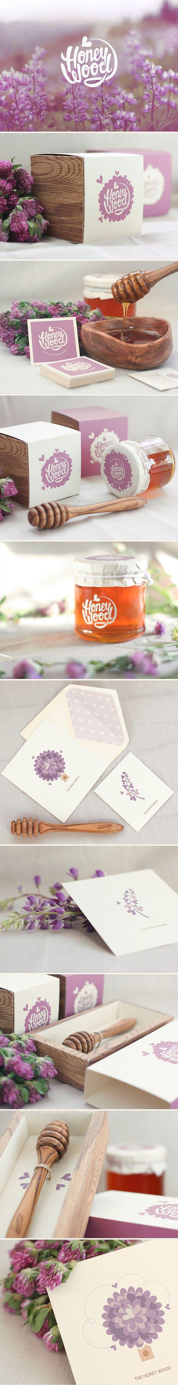 Light Chocolate Cupcake - The Dessert Lover | Honey Product Branding | White & Purple Logo Design and Branding