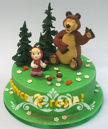 """Детские торты — Детский торт """"Маша и медведь"""""""