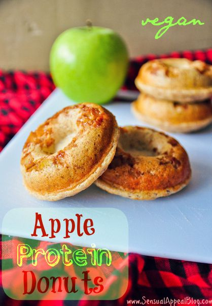 Apple Protein Donuts (vegan/low fat) from Sensual Appeal Blog ~ (1 ...