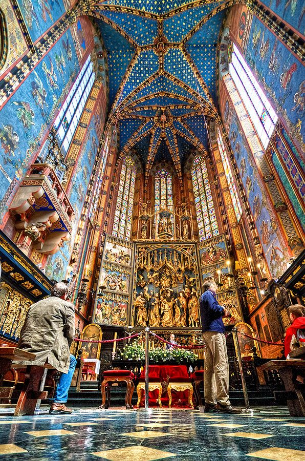Poland: The Altarpiece of Veit Stoss also St. Mary's Altar, is the largest Gothic altarpiece in the World and a national treasure of Poland.