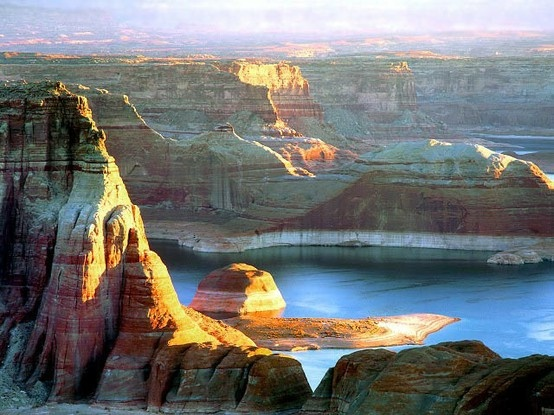 Lake Powell - Love. Even MORE if you click the image!Colorado River, Buckets Lists, Lake Powell, Favorite Places, Lakes Powell Utah, Beautiful Places, Places I D, Lakepowell, Earth