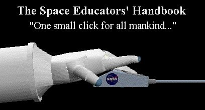NASA SEH LOGO which is a picture  of an astronaut's robotic appearing suit glove clicking a  mouse. The index finger of the glove repeatedly clicks the  mouse.  The NASA logo appears on the side of the mouse.