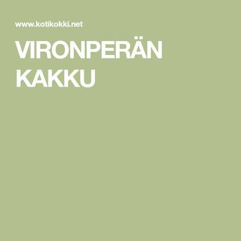 VIRONPERÄN KAKKU