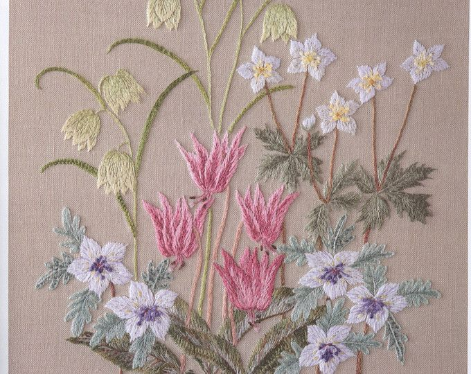 Embroidery patterns - japanese embroidery ebook - flower embroidery - botanical home decor - ebook - PDF - instant download
