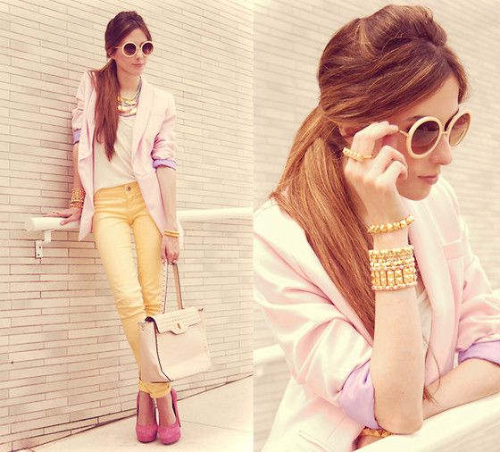 Candy colours! (by Flávia Desgranges van der Linden) http://lookbook.nu/look/4101634-candy-colours