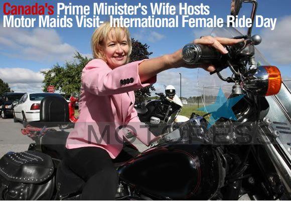 Motor Maids Meet Mrs. Laureen Harper Canada's Prime Minister's Wife on International Female Ride Day