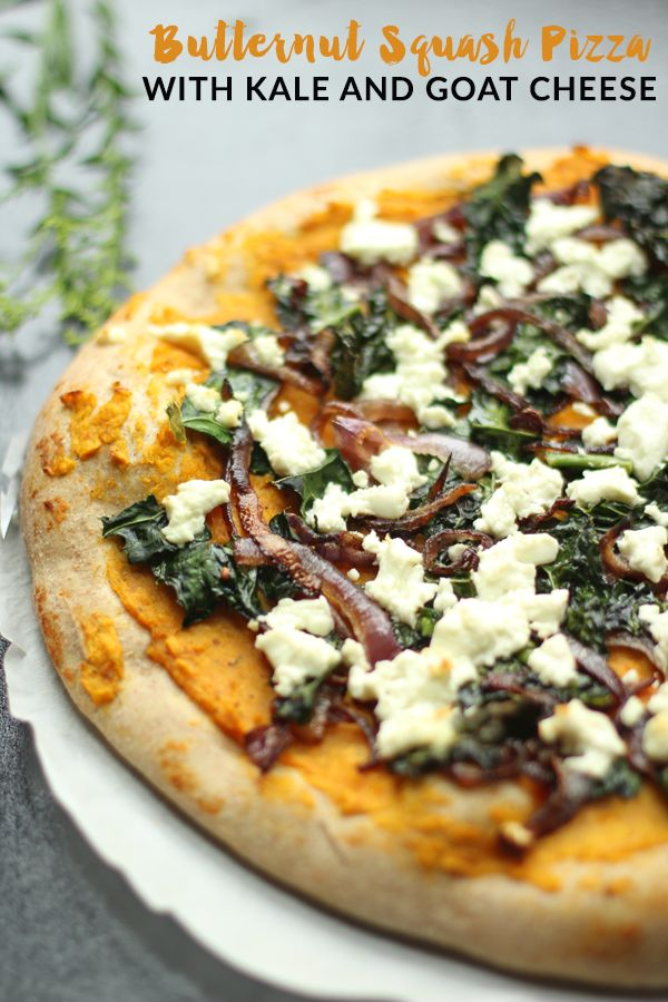 Butternut Squash Pizza with Kale and Goat Cheese - a simple, delicious ...