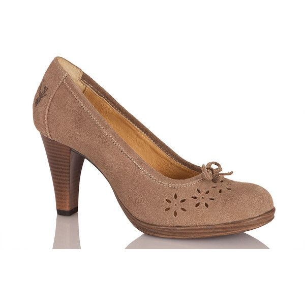 Spieth & Wensky Trachten Pumps - JENA - taupe online kaufen,... ❤ liked on Polyvore featuring shoes, pumps, taupe pumps and taupe shoes