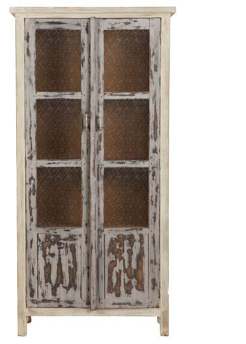 Mueble decapado vitrina maracaibo 170x95x32 cm de for Privalia muebles