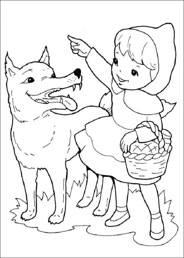 Pin De Dibujosparacolorear En Dibujos Para Colorear Caperucita Roja Imagenes De Caperucita Roja Lobo De La Caperucita Roja Caperucita Roja Dibujo