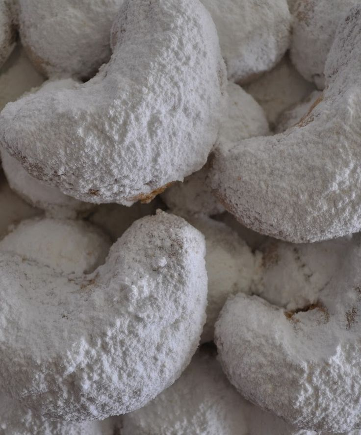 #Kourabiethes with Walnuts #greek #christmas #cookies    #recipe