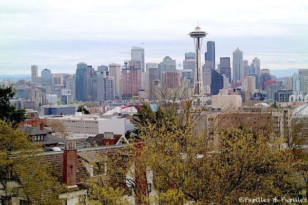 La vue sur la skyline de Seattle depuis le parc Kerry